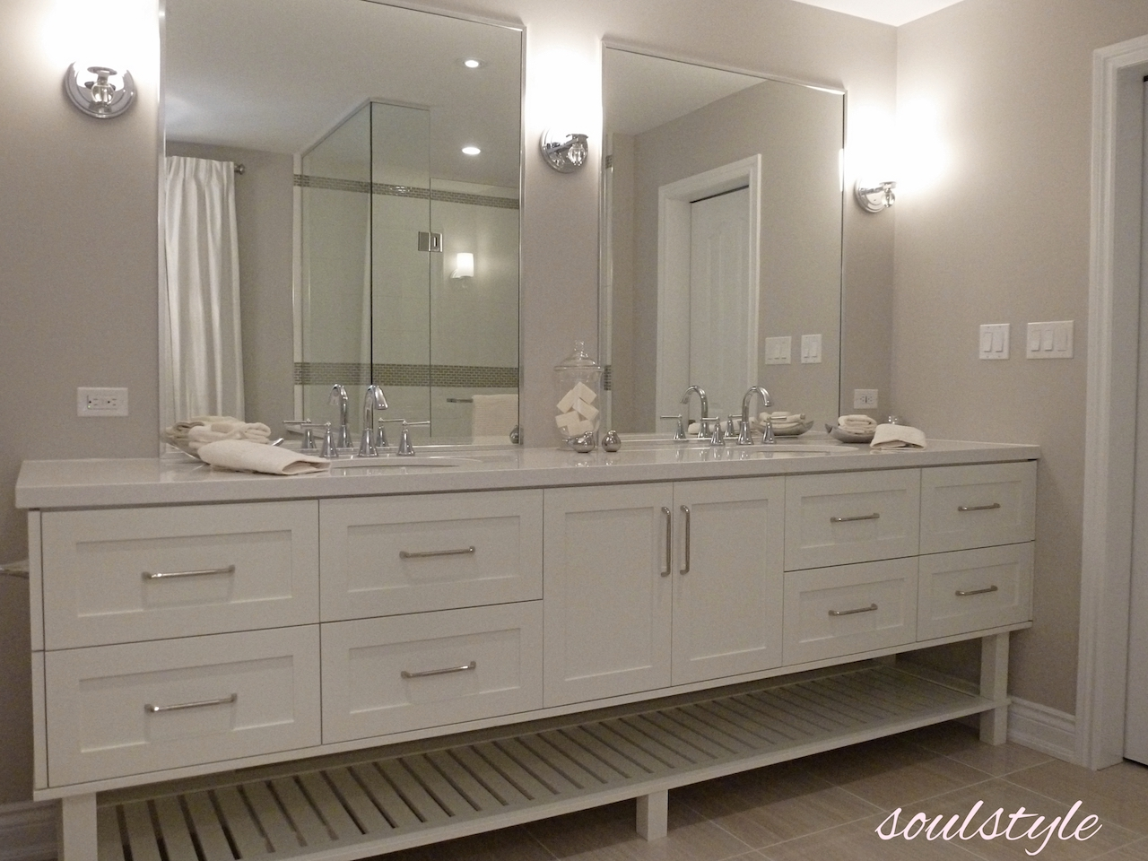 Elegant Neutrals Vanity Custom Vanity