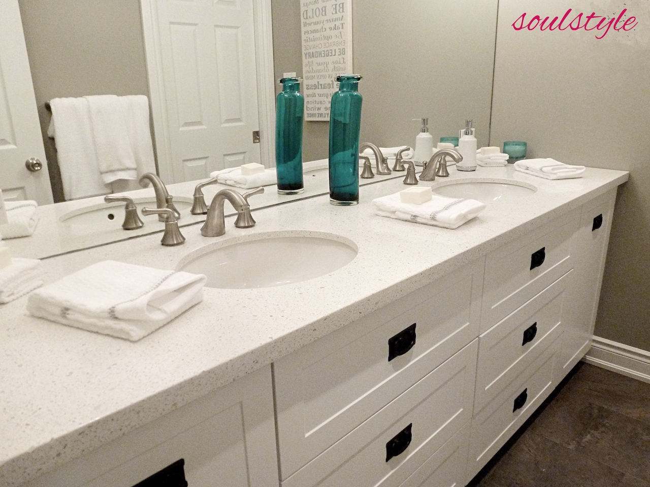 Family Bathroom Double Sinks