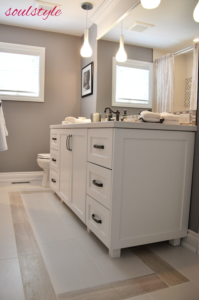 Main Bath Vanity & Tile Floor Design