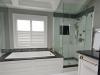 Ensuite Bath Renovation Coffered Dormer Ceiling Soaker Tub