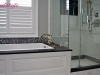 Ensuite Bath Soaker Tub & Shower Marble tile Hex TIle