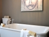 Ensuite Soaker tub Art & Chandelier