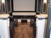 Home Theatre Room Fireplace & Hardwood