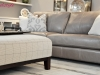 Taupe Sofa & Custom Upholstered Ottoman