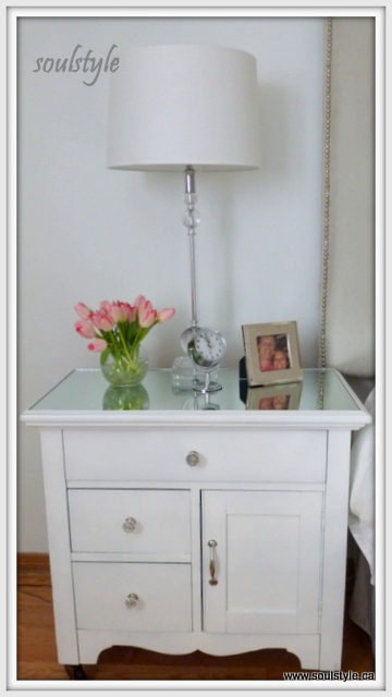 Mirrored top Night Stand