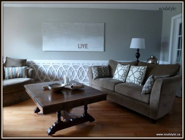 Living room wainscot soulstyle interiors and design for Living room wainscoting ideas