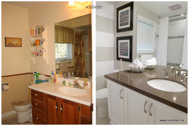Diy bathroom remodel before and after home ideas creative for Main bathroom remodel ideas