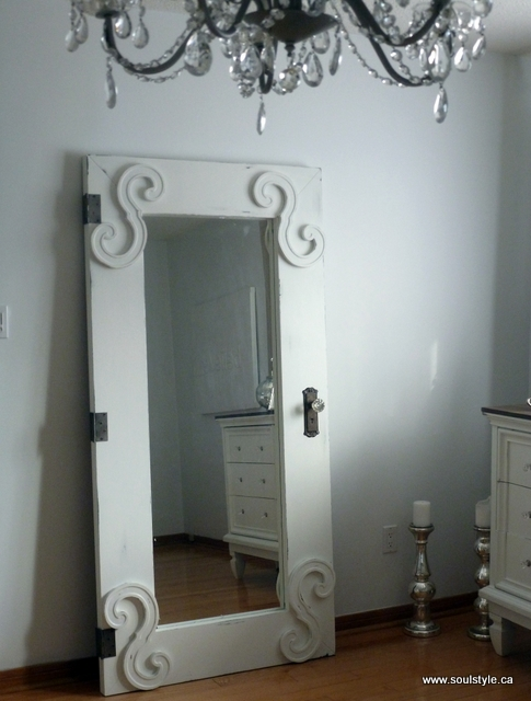 Standing full length mirror door diy for Cool full length mirror