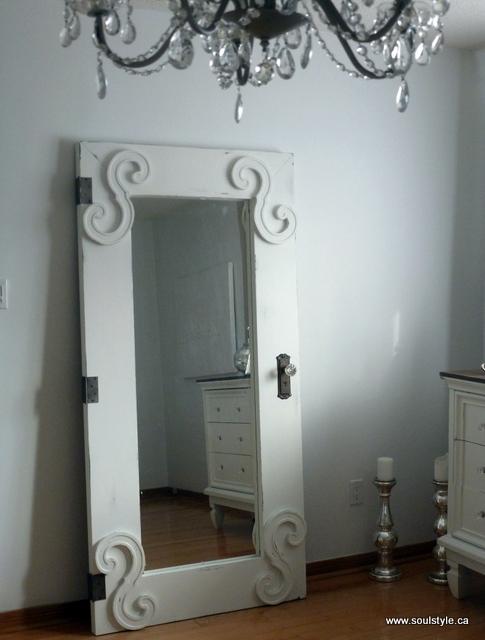 Standing full length mirror door diy for Cool full length mirror