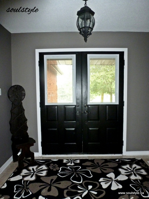 Paint it black soulstyle interiors and design - Sophisticated black interior doors ...
