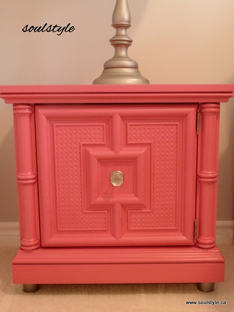 DIY spray painted night stands Raspberry