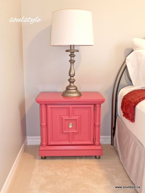 Raspberry spray painted furniture
