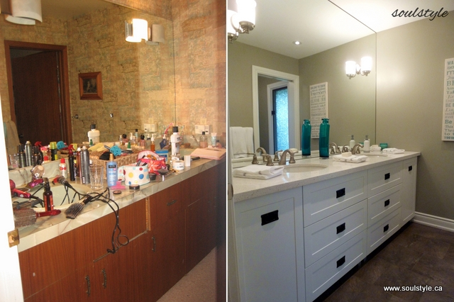 Bathroom Makeover Vanity remodelaholic | dramatic bathroom makeover