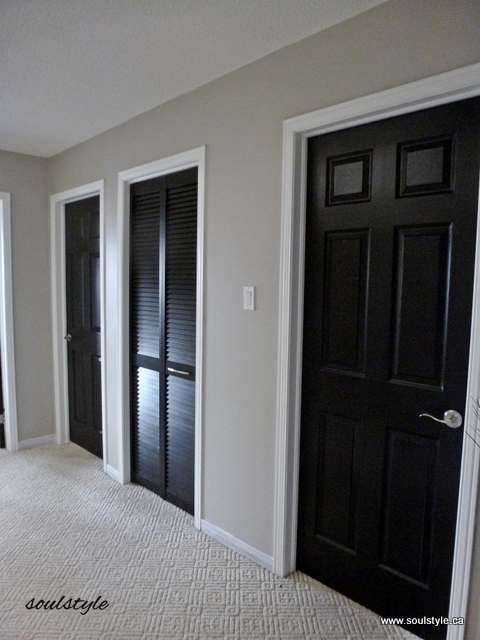 Painting Interior Doors Black : Black interior doors soulstyle interiors and design