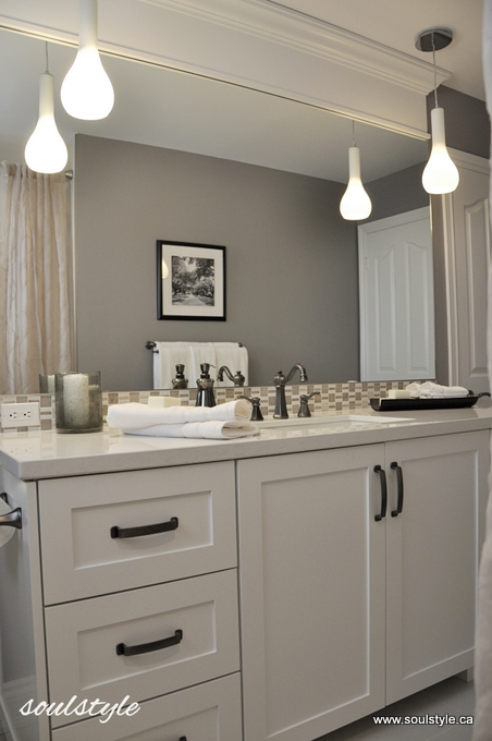 Righting the wrongs soulstyle interiors and design for Pendant light bathroom vanity