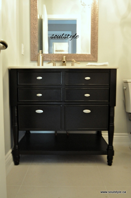 ebony finish vanity